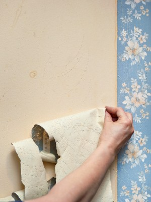 Wallpaper removal by All City Painting.